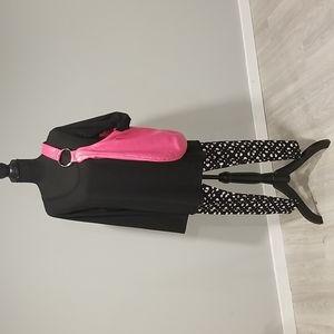 Hot pink shoulder bag
